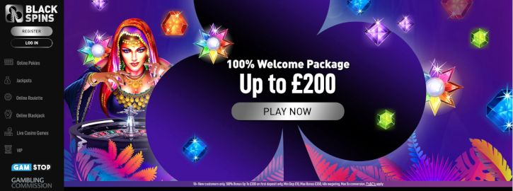 Black Spins Casino bonus