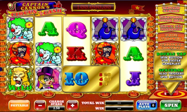 Captain Cannon's Circus of Slots
