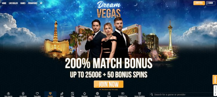 Dream Vegas Casino bonus
