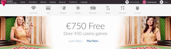 Ruby Fortune Live Dealer Casino